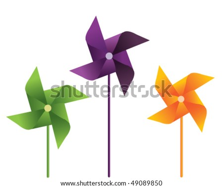 colorful windmill vector