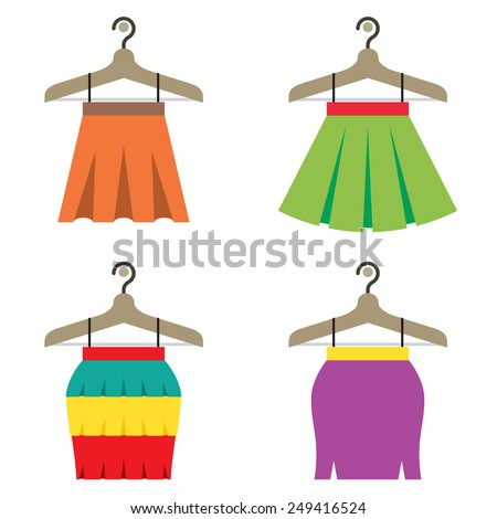 colorful women skirts with
