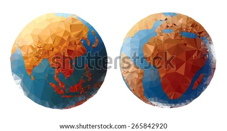 colorful world globe showing