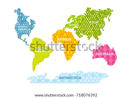 Bentley continental download free vector art stock graphics images colorful world map continents with patterns africa america asia europe gumiabroncs Choice Image