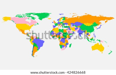 World countries map vector download free vector art stock colorful world map with countries in vector design gumiabroncs