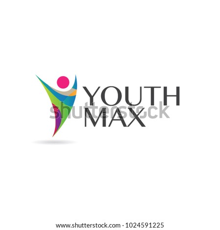 Colorful Youth Logo Sign Symbol Icon