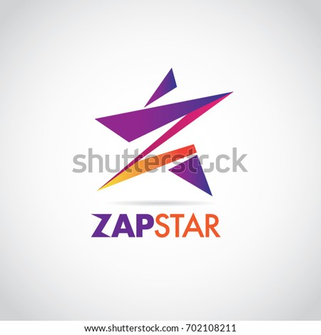 colorful zap star with letter z