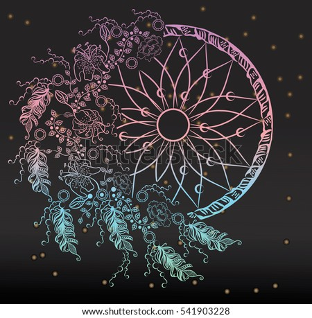 colorfull dreamcatcher with