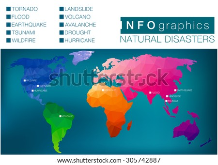 colorfull infographic map of