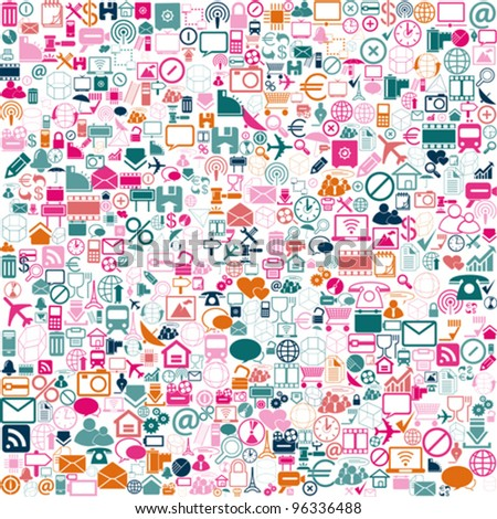 colorfull Network background icons, vector
