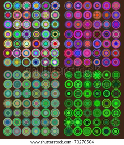 colorfull retro patterns - stock vector