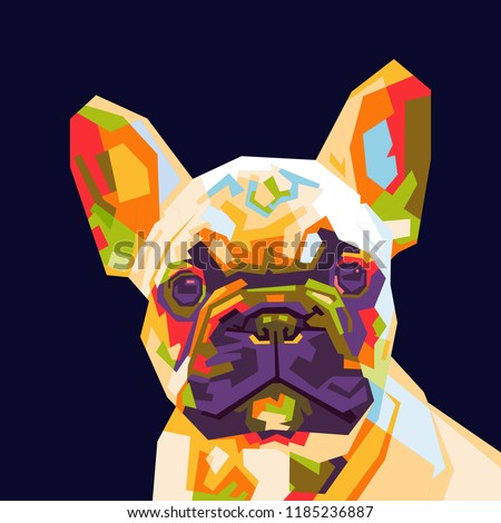 colorfully french bulldog illustration. wpap style