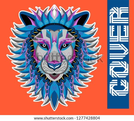 Stock Photo Colorfully Lion. Lion Logo. Creative Artwork - Vector