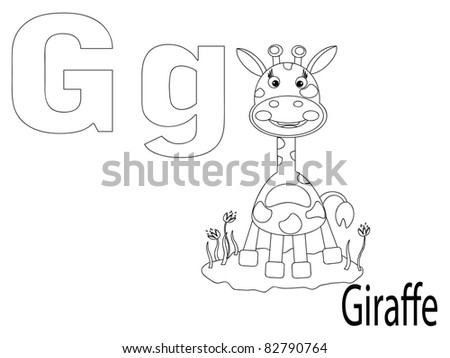 Coloring Alphabet for Kids,G