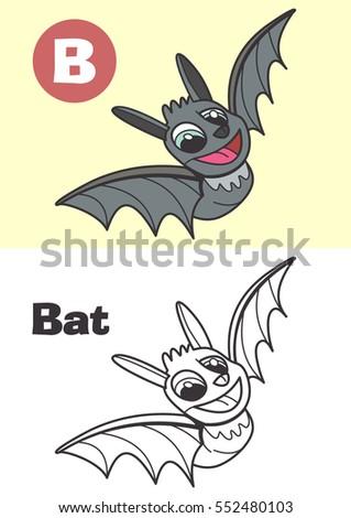coloring bat for children