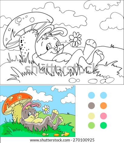 coloring book a cute cartoon