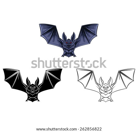 Coloring Book Bat Tattoo Cartoon Character