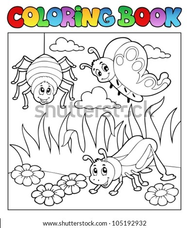coloring book bugs theme image
