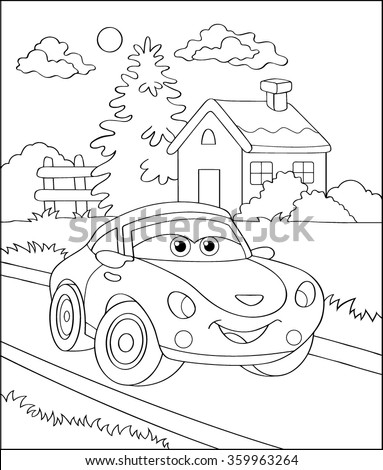 coloring book  cartoon vector