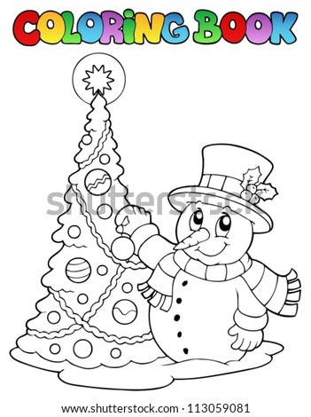 Coloring book Christmas thematics 1 - vector illustration. - stock vector