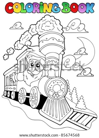 Coloring book Christmas topic 4 - vector illustration.