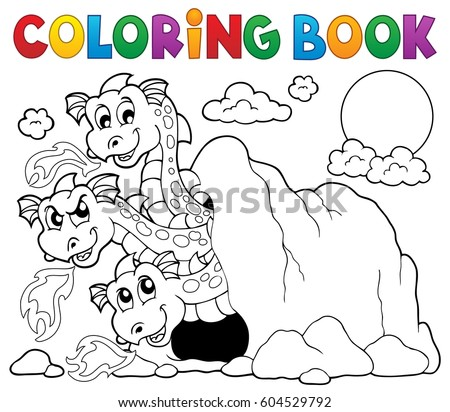 coloring book dragon theme