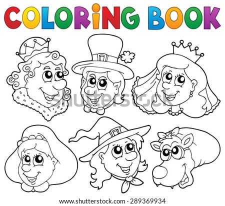 coloring book fairy tale