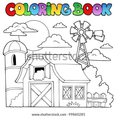 Coloring book farm theme 1 - vector illustration.