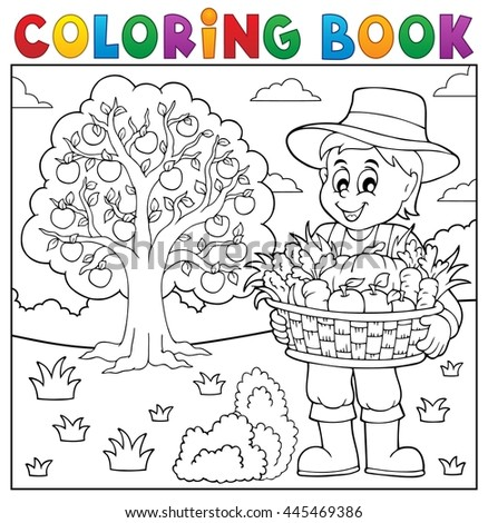 coloring book farmer with