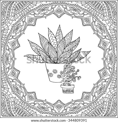 Pot Leaf Coloring Pages Pictures Book