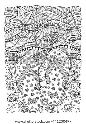 coloring book for adult sea