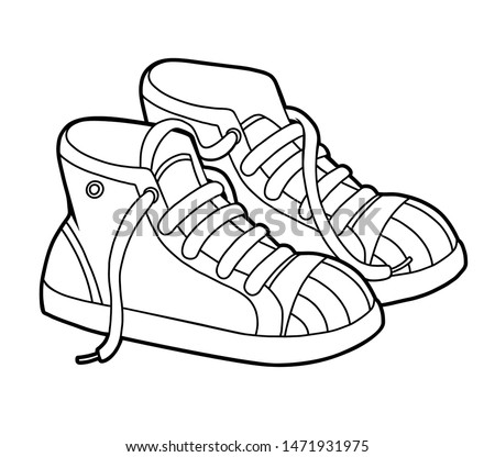 Shoe Coloring Pages For Kids At Getdrawings Free Download