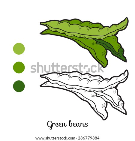 coloring book  green beans