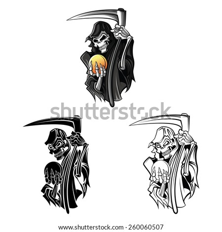 coloring book grim reaper