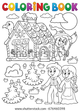 coloring book hansel and gretel