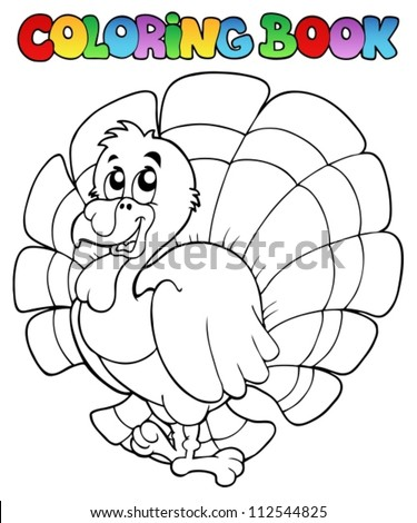 coloring book happy turkey