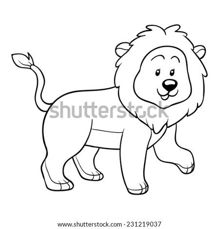 Coloring book (lion) | EZ Canvas