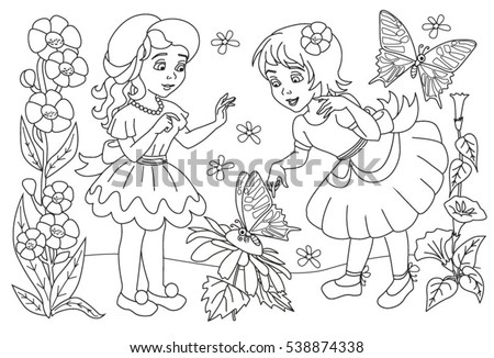 coloring book little girls