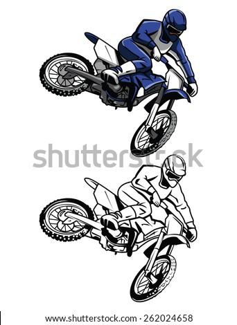 coloring book moto cross