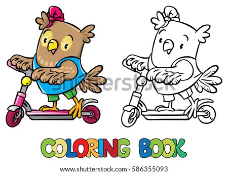 coloring book of funny little