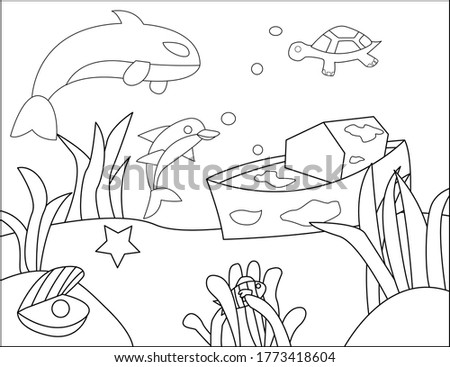 Coloring book of Underwater, good for children