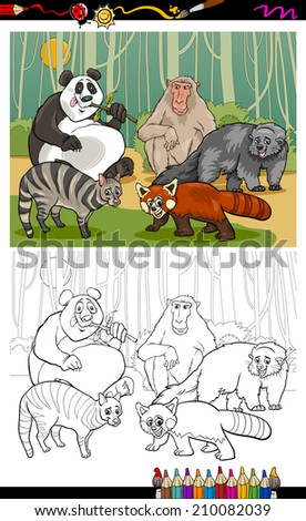 coloring book or page cartoon