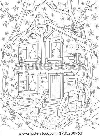 coloring book page for adult