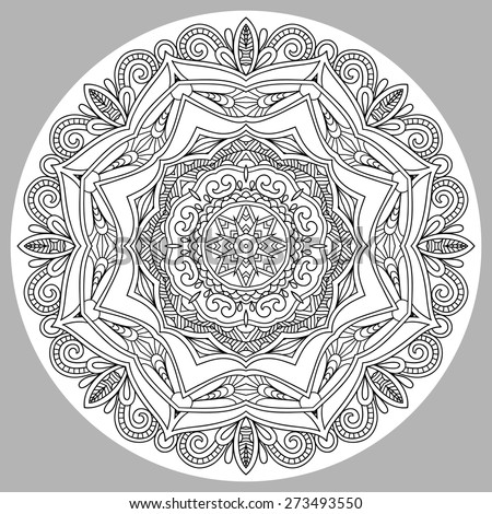 coloring book page for adults
