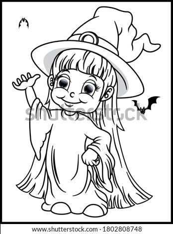 coloring book page for