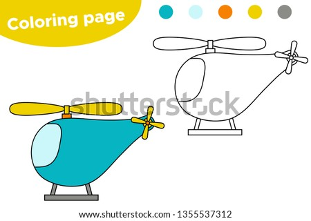 A helicopter with kids - Download Free Vector Art, Stock Graphics