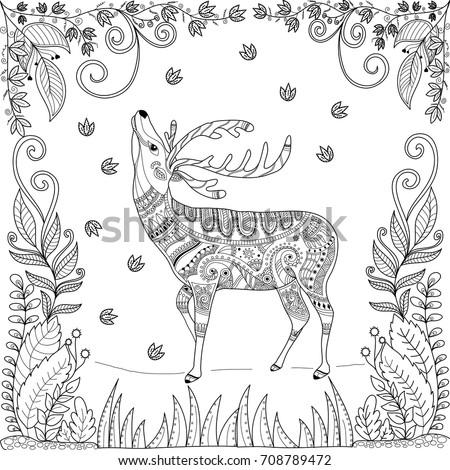 Reindeer Head Coloring Pages At Getdrawings Free Download