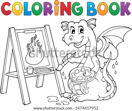 coloring book painting dragon