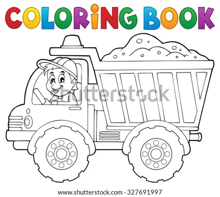 coloring book sand truck theme