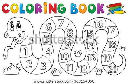 stock-vector-coloring-book-snake-with-numbers-theme-eps-vector-illustration