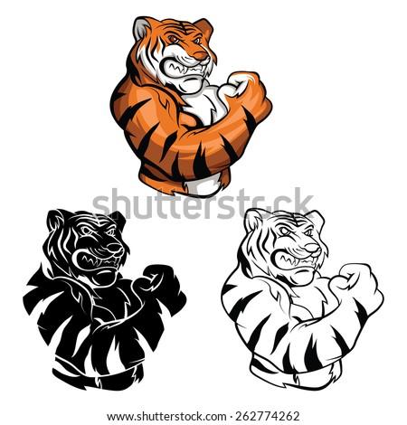 coloring book tiger mascot