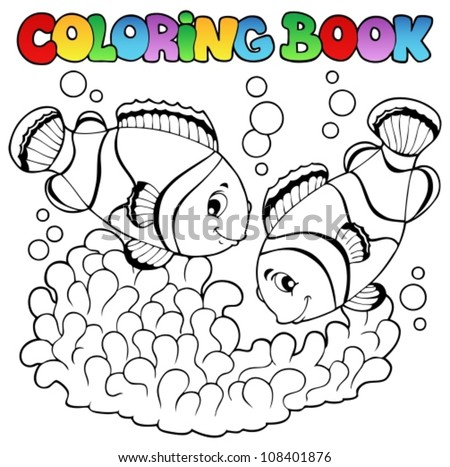 coloring book two cute clown
