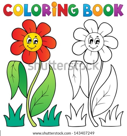 coloring book with flower theme