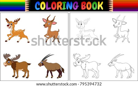 Coloring Book Animals Vector - Download Free Vector Art, Stock ...